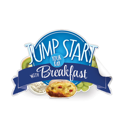 Jump Start Your Day with Breakfast Die-Cut Decal