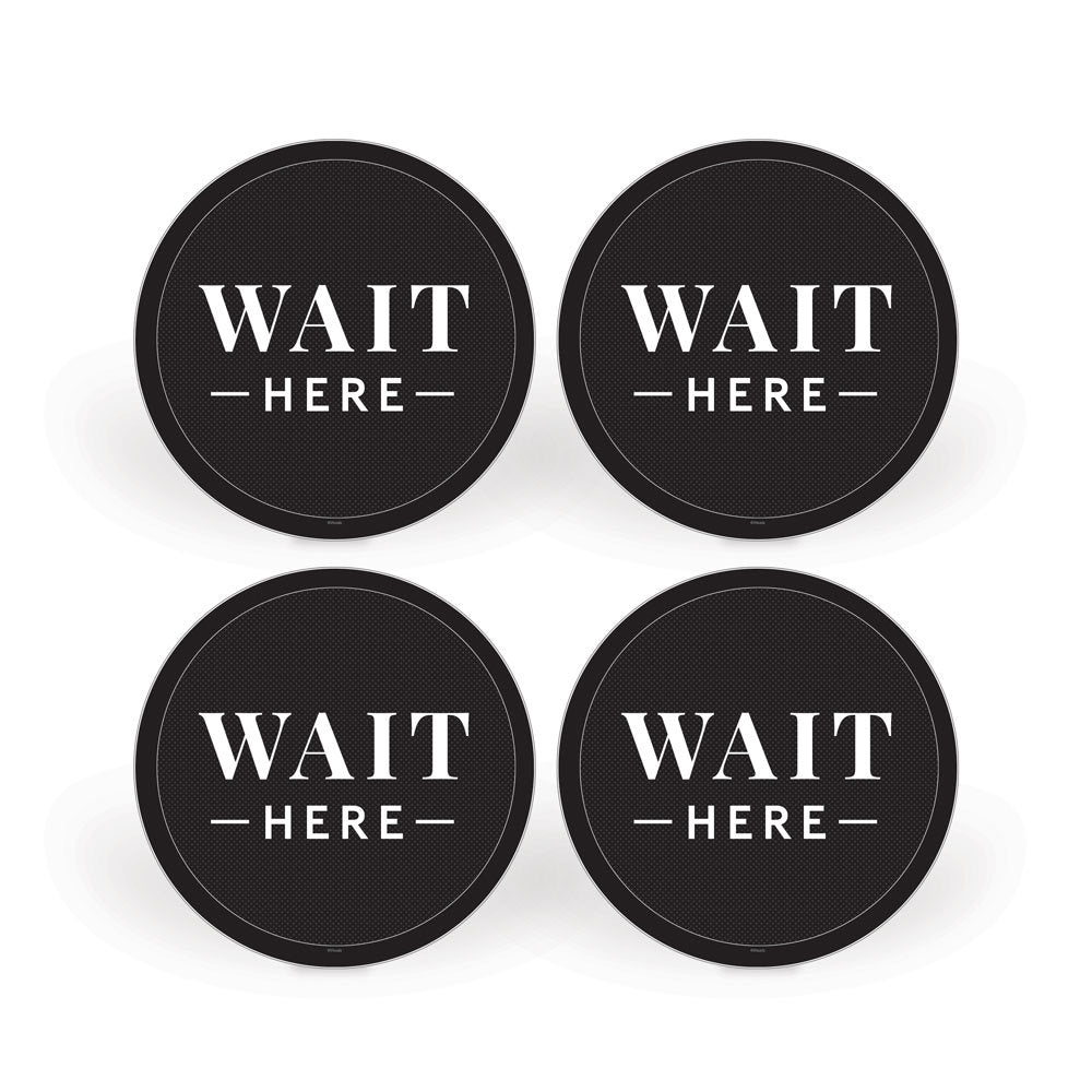 Wait Here Floor Decals