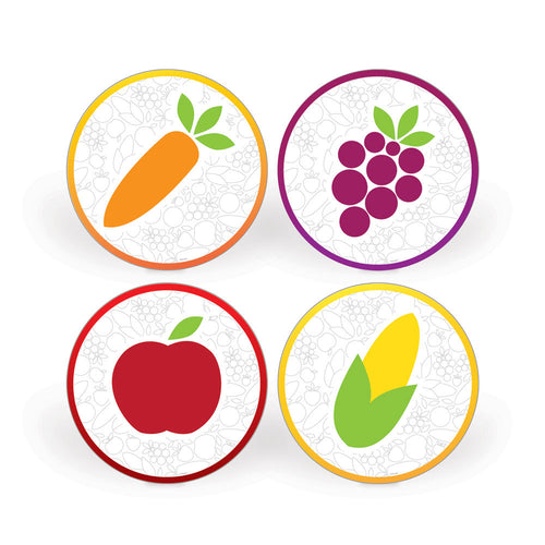 Fruit and Veggie Social Distancing Floor Decal Set