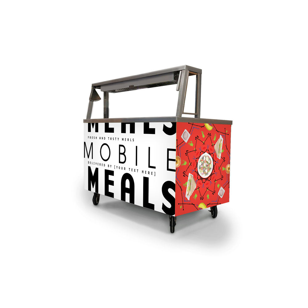 Custom Mobile Meals Mandala Foodservice Cart Wrap