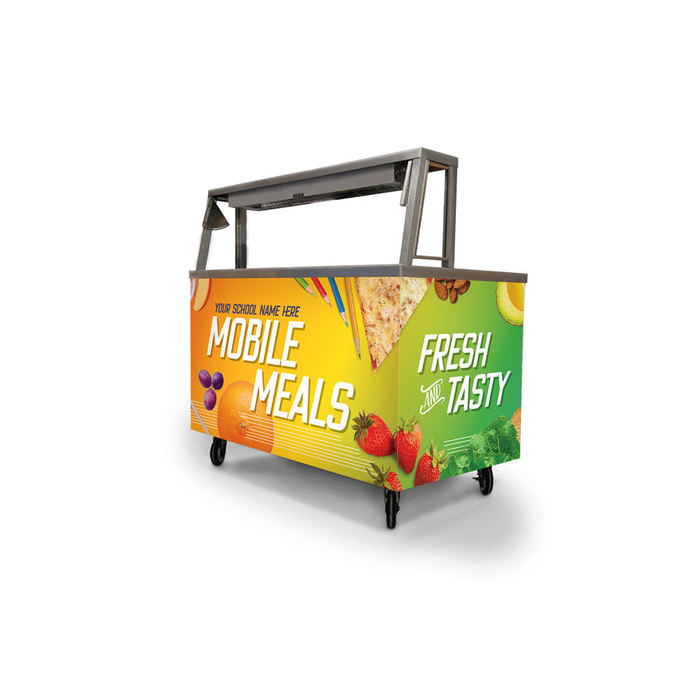 Custom Mobile Meals Healthy Lunch Foodservice Cart Wrap