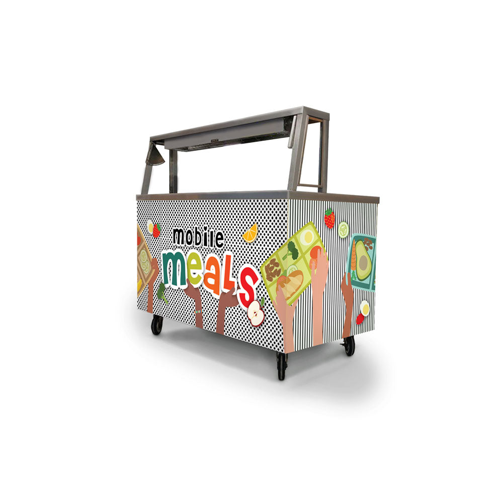 Custom Mobile Meals Rainbow Foodservice Cart Wrap