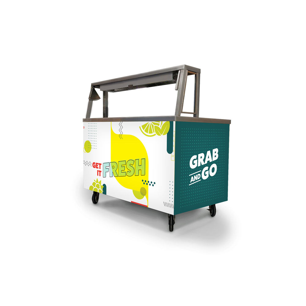 Custom Grab and Go Foodservice Cart Wrap
