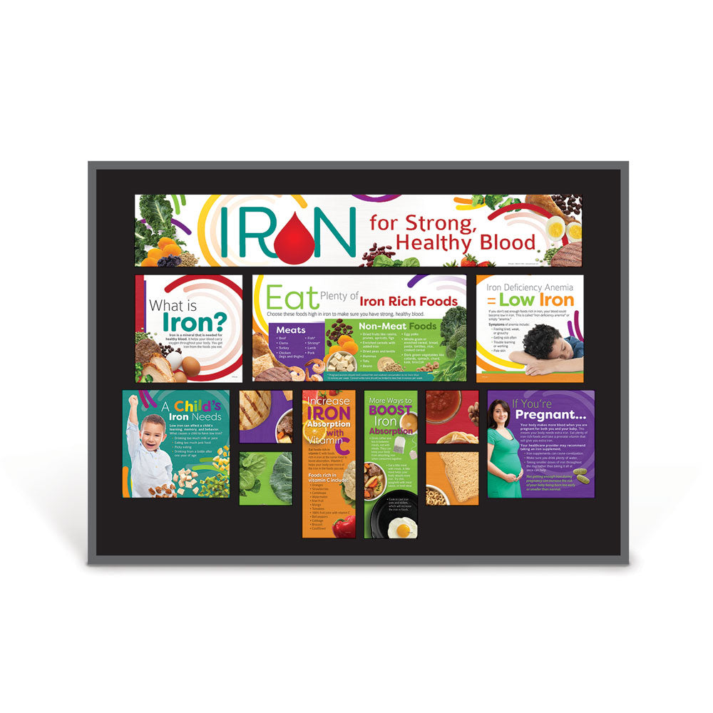 Iron for Strong, Healthy Blood Bulletin Board Kit