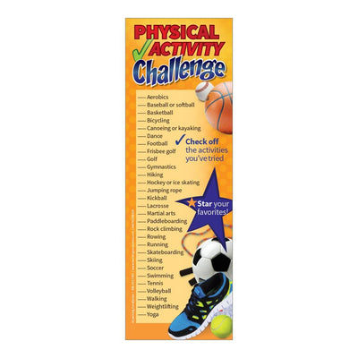 Physical Activity Challenge Bookmarks