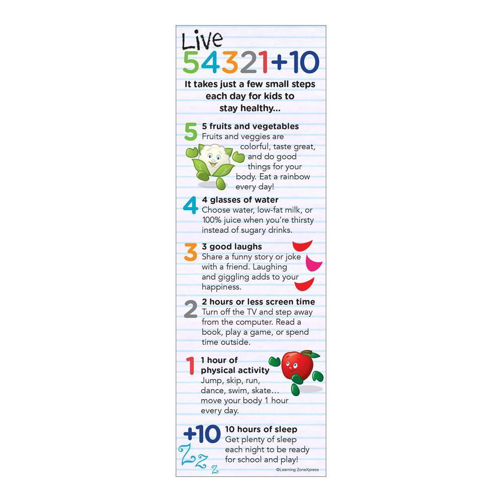Live 54321+10® for Kids Bookmarks