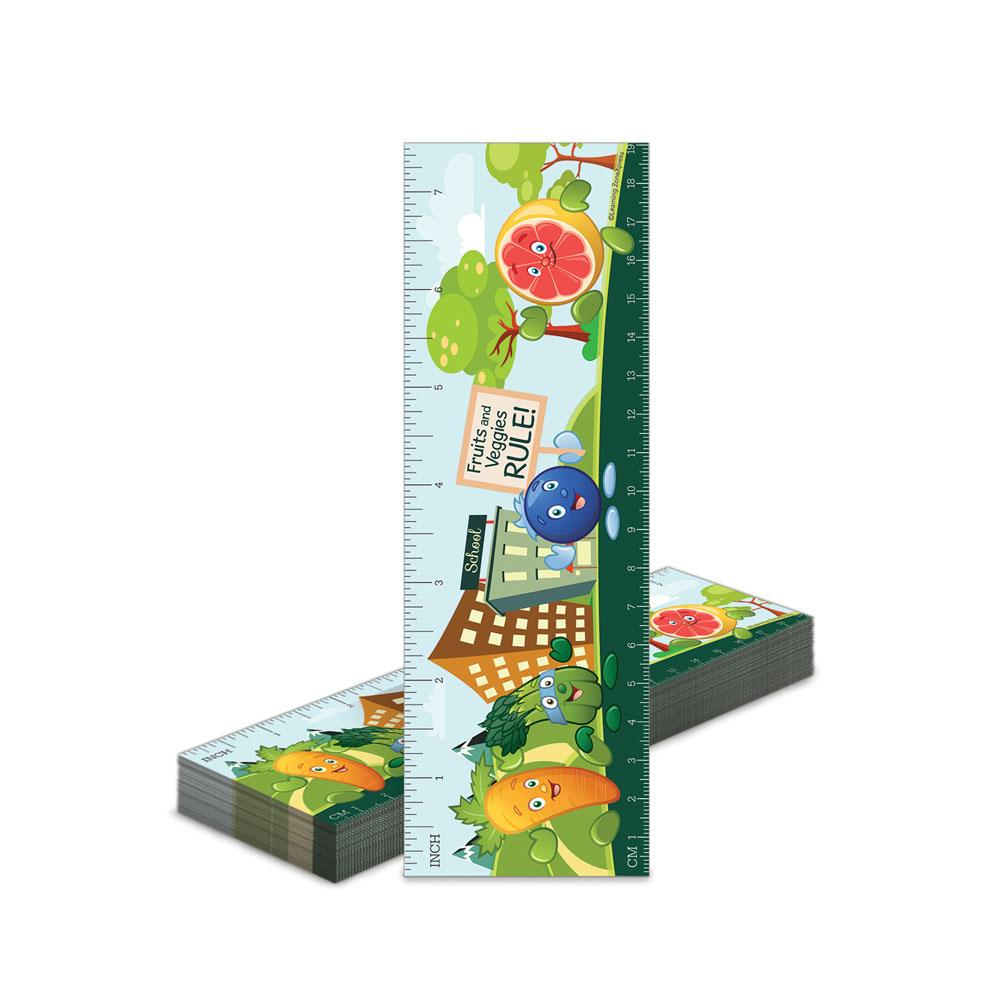 Fruit and Veggie Bookmark Rulers