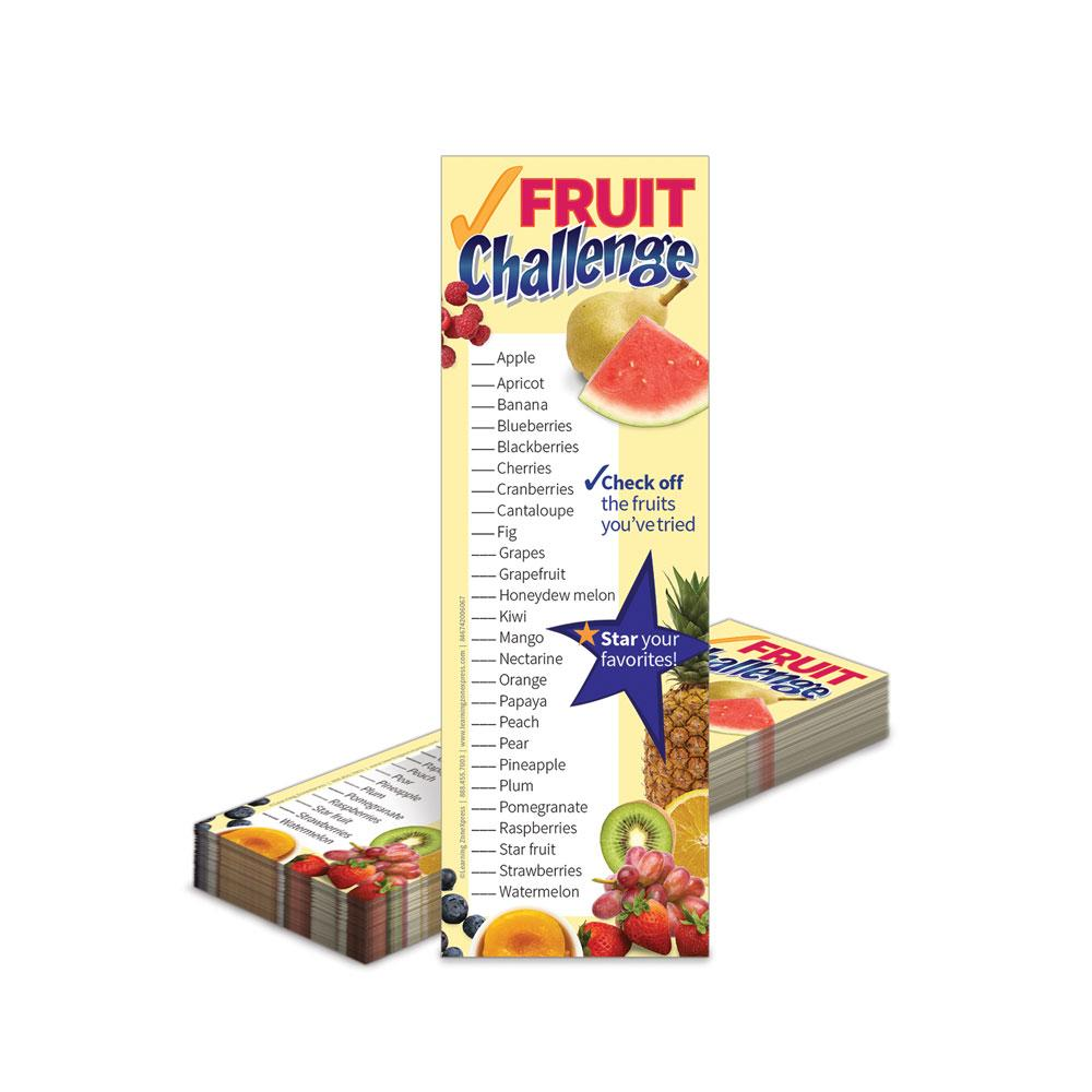 Fruit and Veggie Challenge Bookmarks
