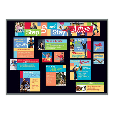 Step Up and Stay Active Bulletin Board Kit