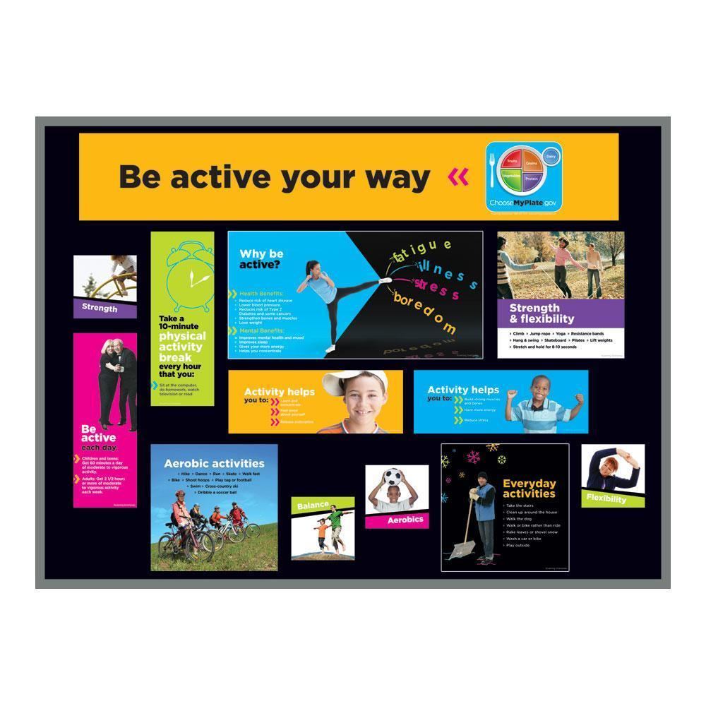 MyPlate Food & Activity Bulletin Board Set