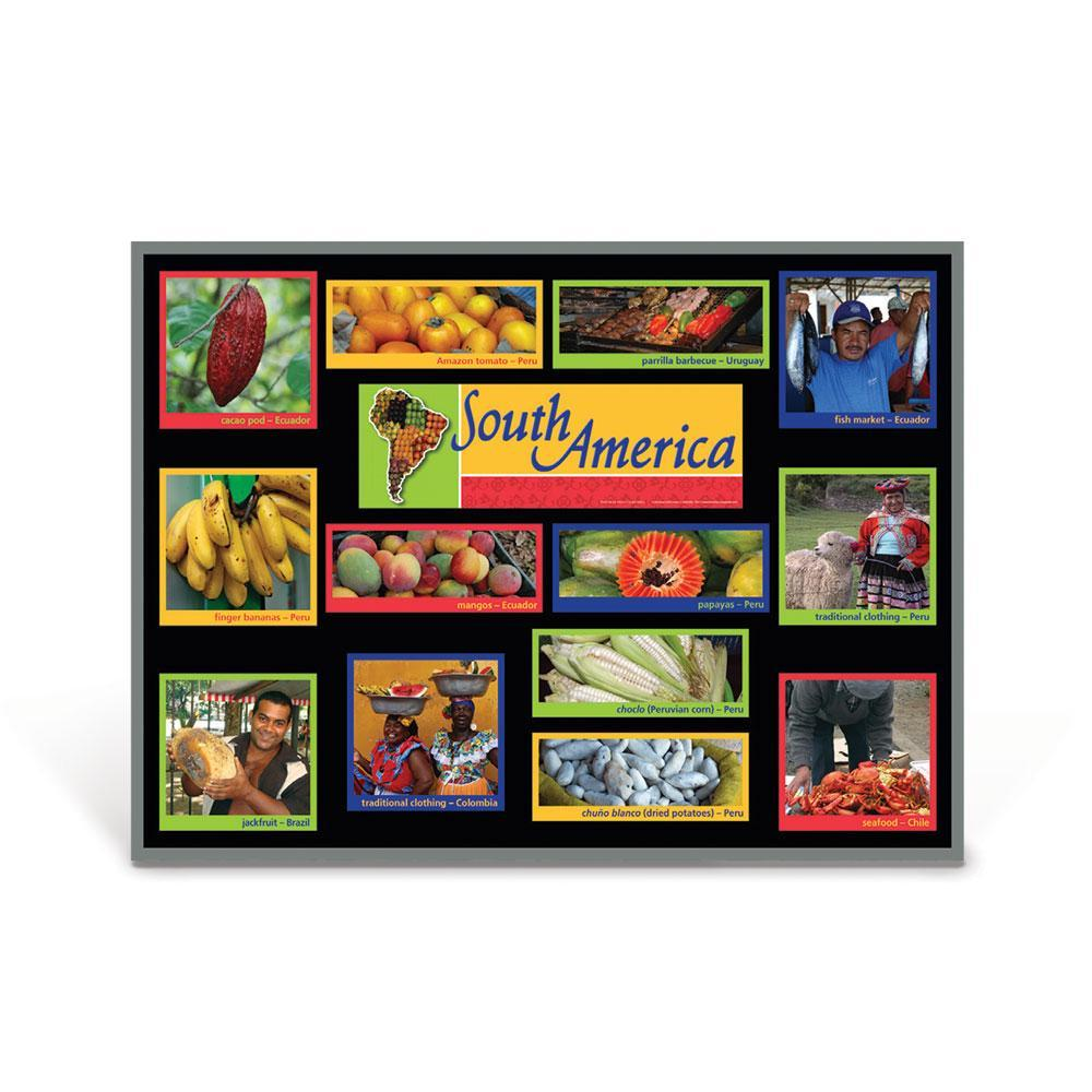 South America Food Markets Bulletin Board Kit
