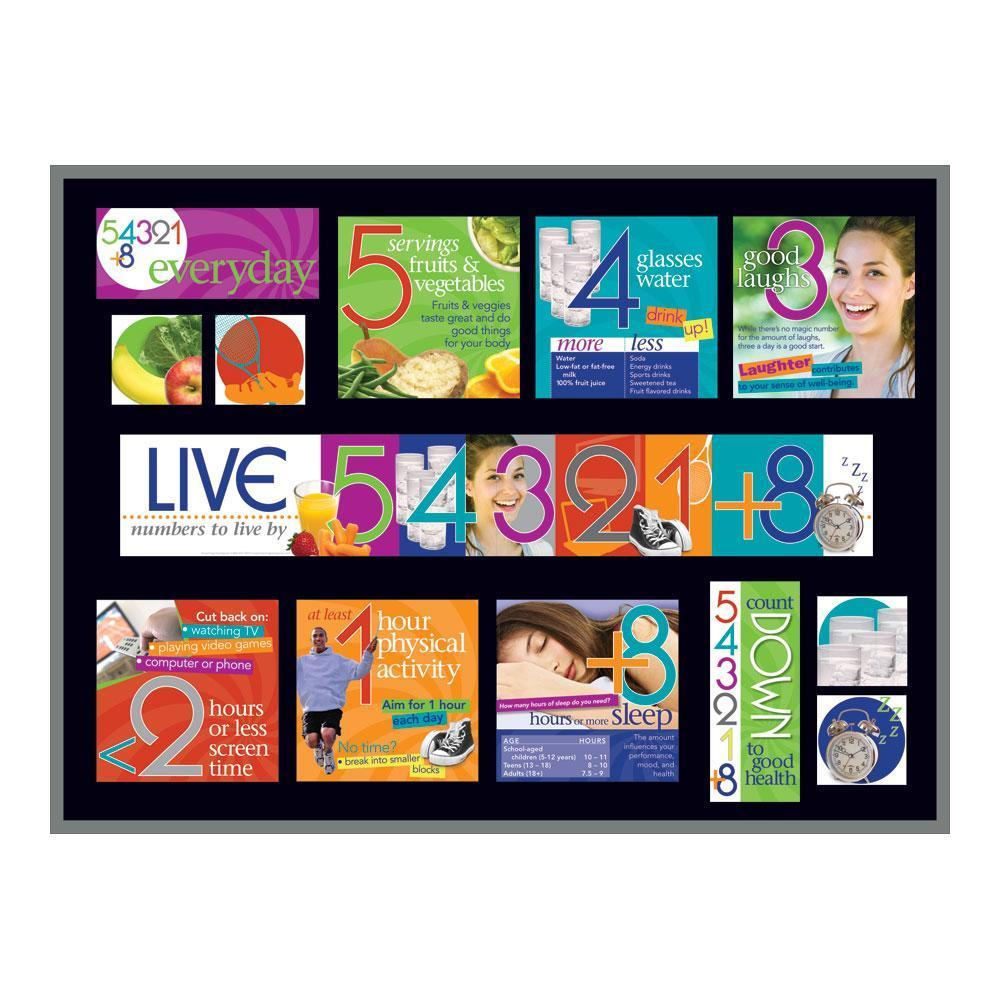 Live 54321+8® Bulletin Board Kit