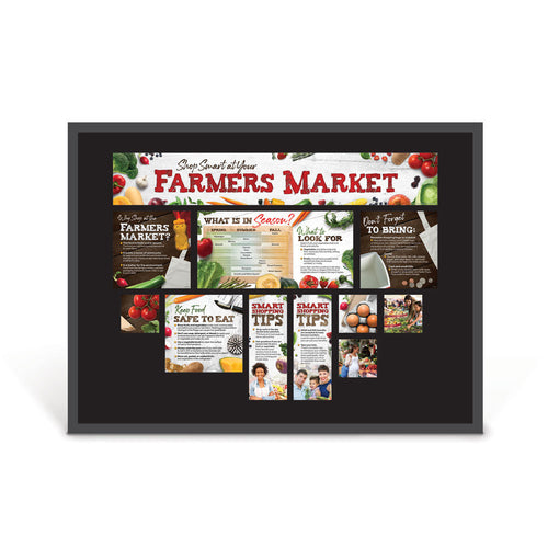 Shop Smart at Your Farmers Market Bulletin Board Kit