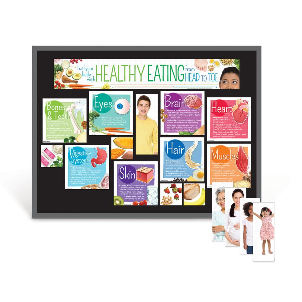 Healthy Eating From Head to Toe Bulletin Board Kit