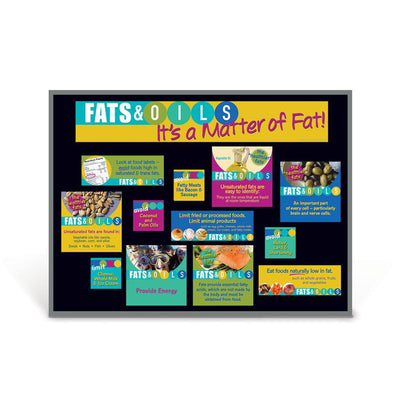 Food Groups Bulletin Board Set of 6 | Fats & Oils