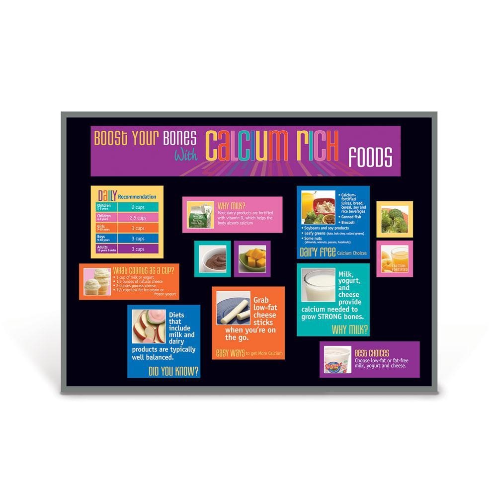 Food Groups Bulletin Board Set of 6 | Calcium