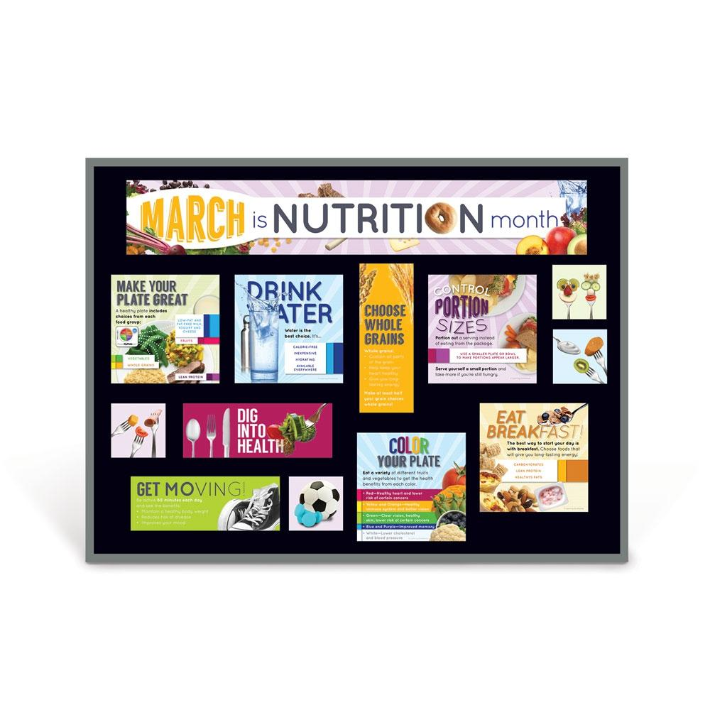 March is Nutrition Month Bulletin Board Kit