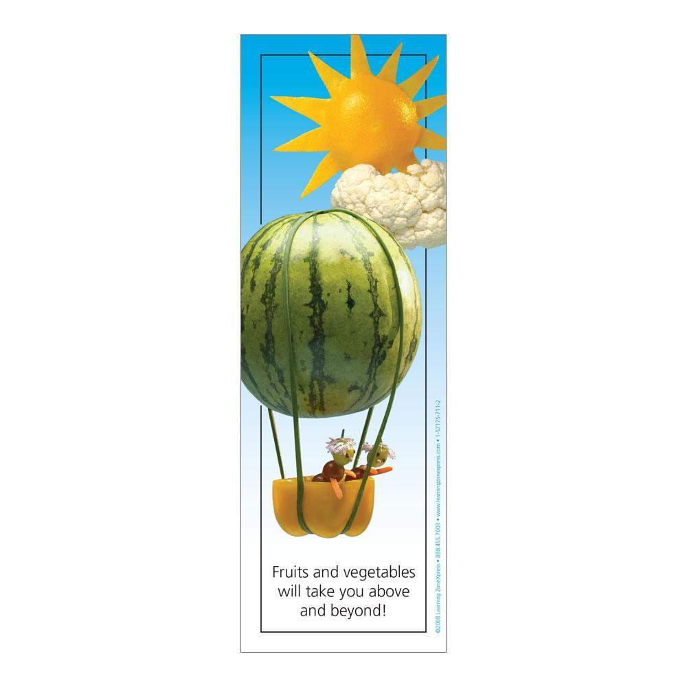 Fruit and Veggie Balloon Bookmarks