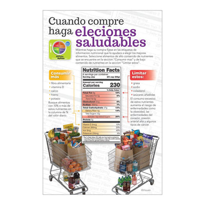 Healthy Grocery Shopping List Spanish Notepads