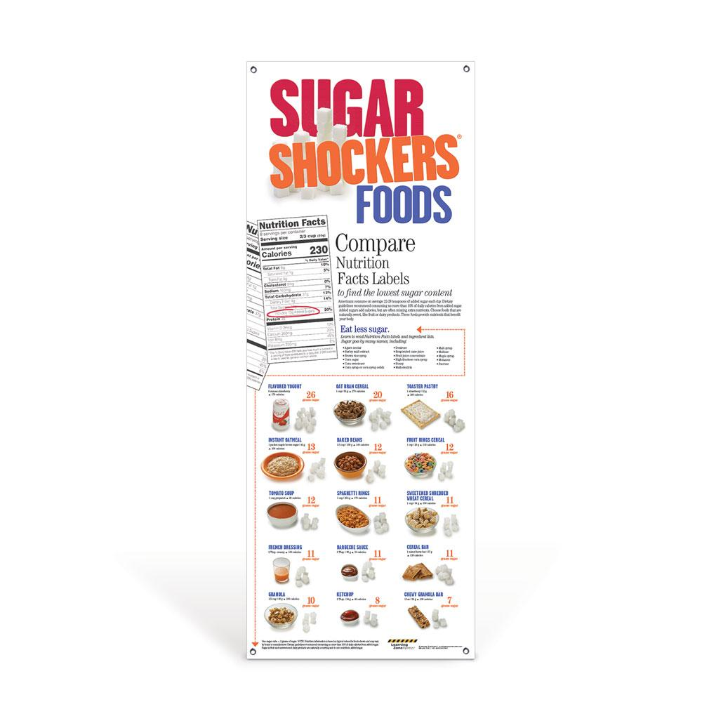 Sugar Shockers® Foods Vinyl Banner