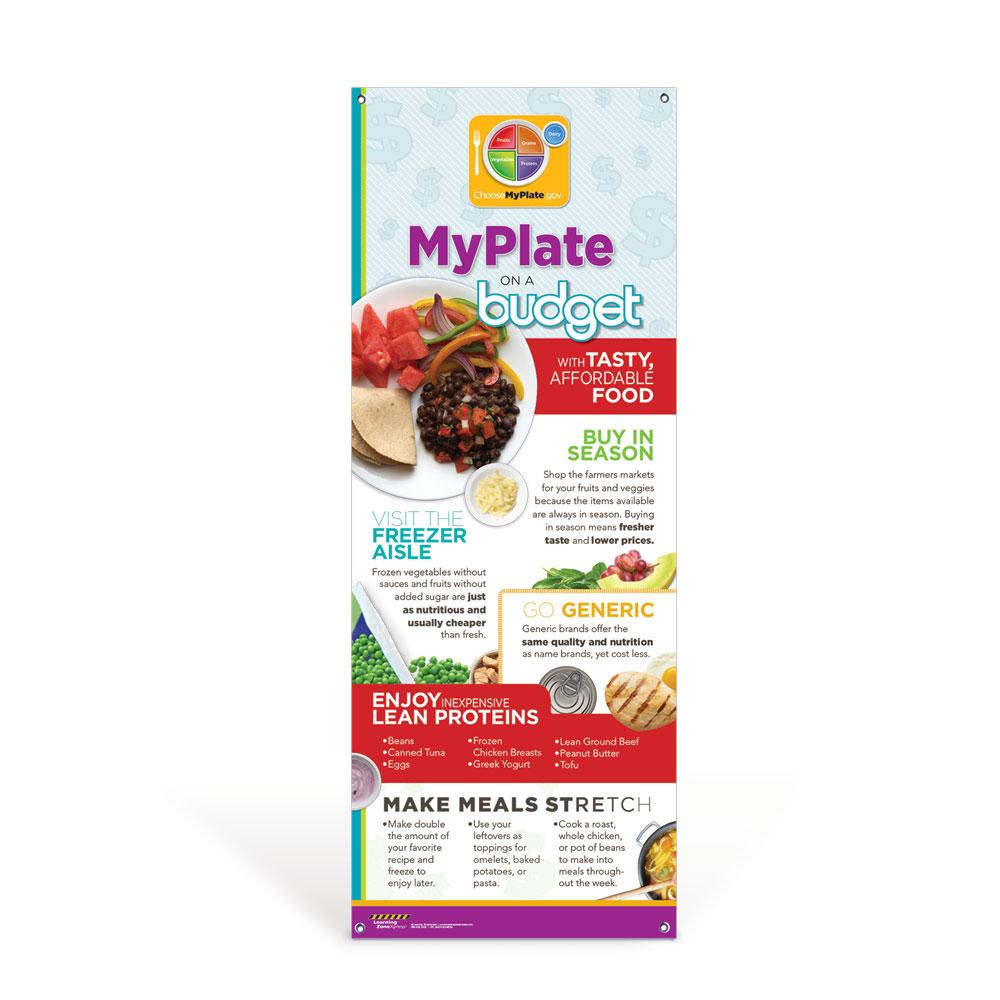 MyPlate on a Budget Vinyl Banner