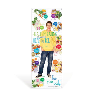 Teen Healthy Eating from Head to Toe Banner