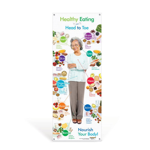 Older Adult Healthy Eating from Head to Toe Banner
