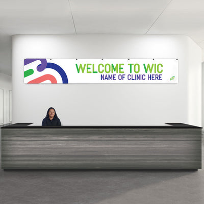 Custom Reception Banner: Welcome to WIC