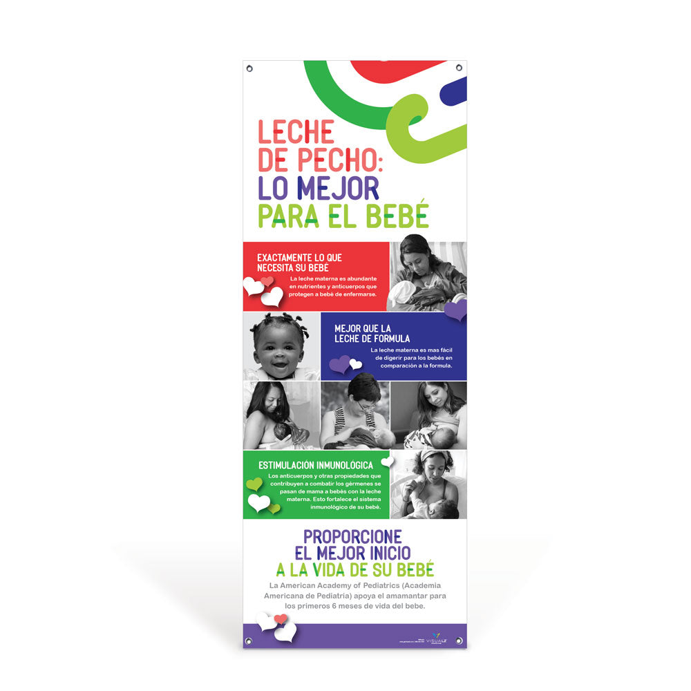 Breast Milk: Best for Baby Spanish Vinyl Banner