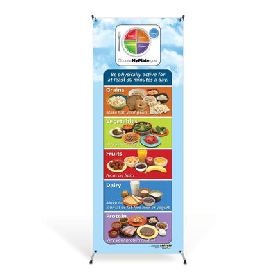 MyPlate Portion Size Vinyl Banner with Stand