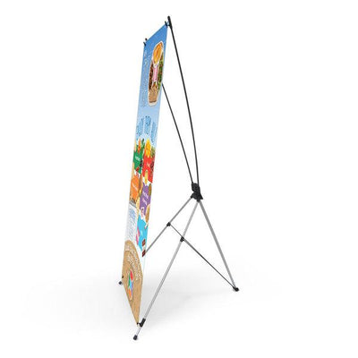 My Smart Lunch Plate Vinyl Banner with Stand