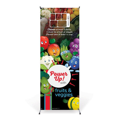 Garden Heroes® Fruit and Veggie Vinyl Banner with Stand