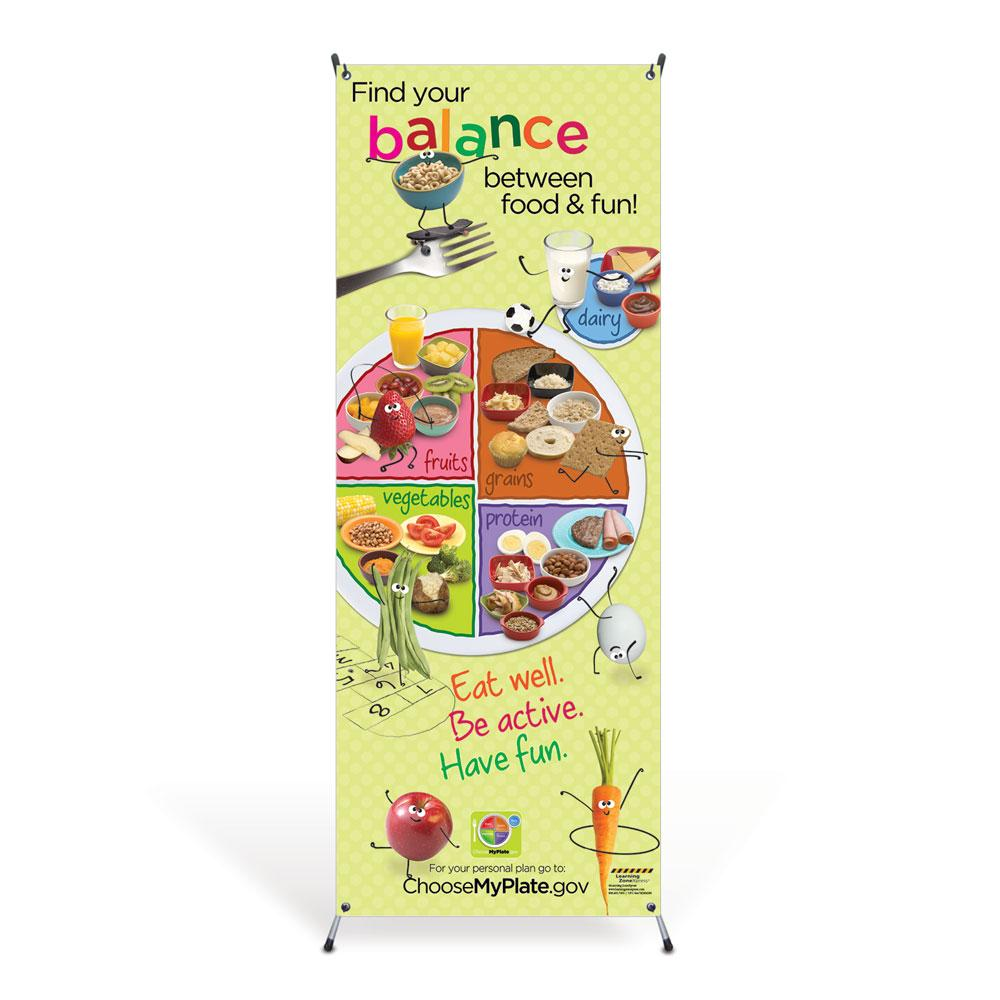 Kids MyPlate Vinyl Banner with Stand
