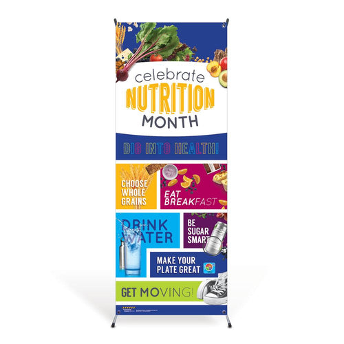 Celebrate Nutrition Month Vinyl Banner with Stand