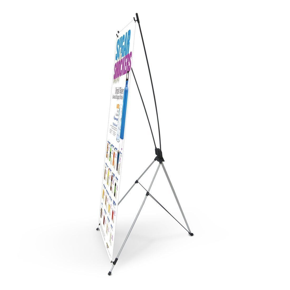 Sugar Shockers® Vinyl Banner with Stand