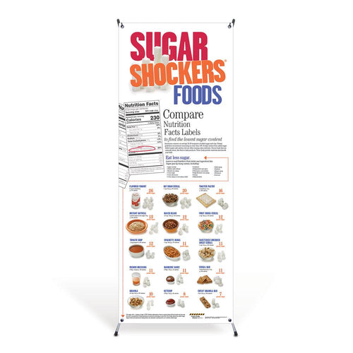 Sugar Shockers® Foods Vinyl Banner with Stand