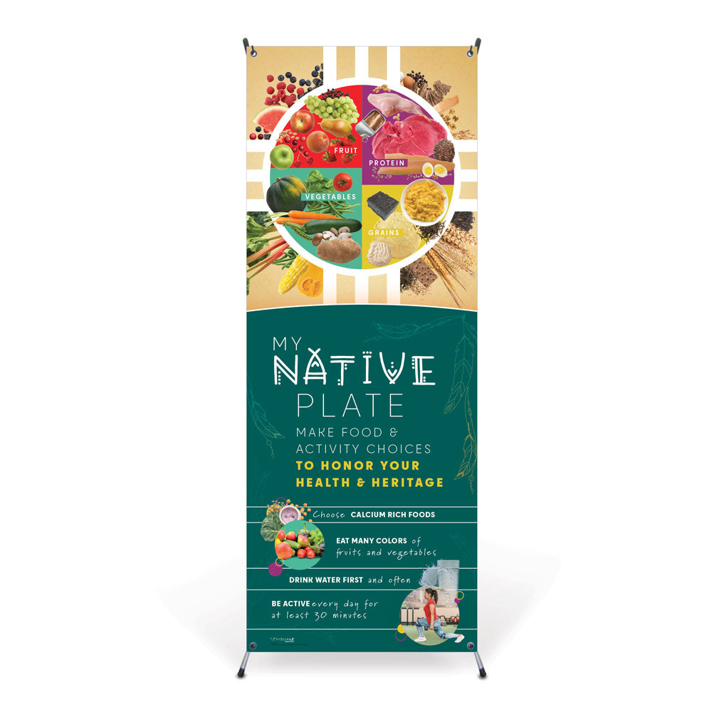 My Native Plate Vinyl Banner with Stand