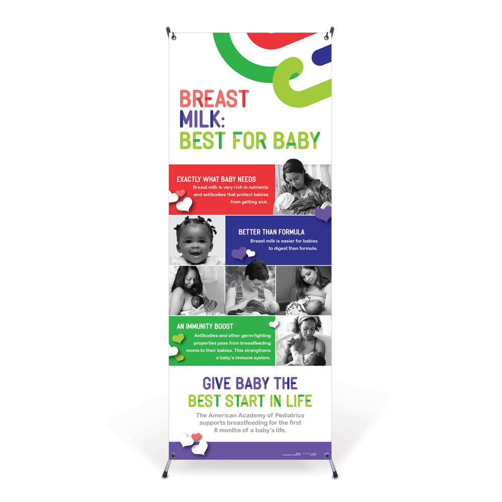 Breast Milk: Best for Baby Vinyl Banner with Stand