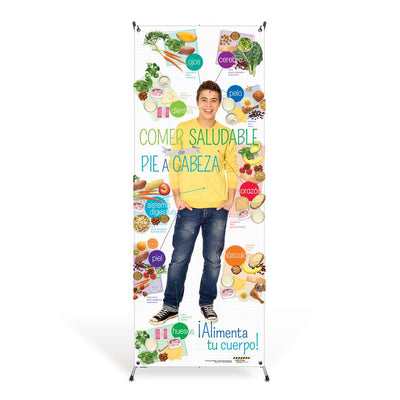 Teen Spanish Healthy Eating Head to Toe Banner