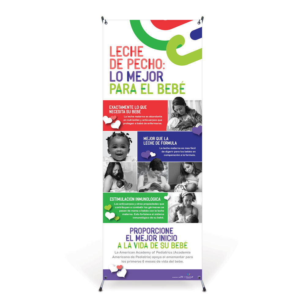 Breast Milk: Best for Baby Spanish Vinyl Banner with Stand