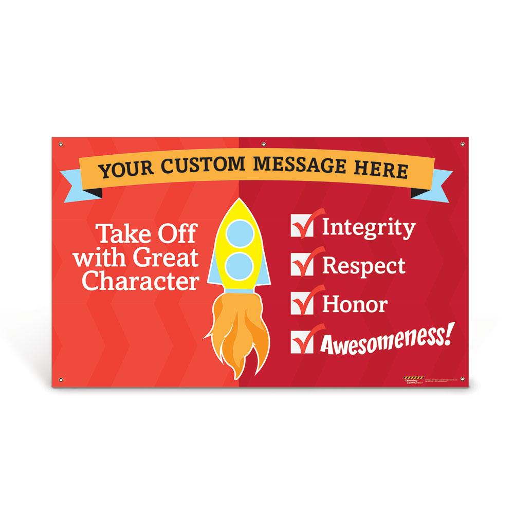 Custom Vinyl Banner: Great Character