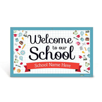 Custom Vinyl Banner: Welcome to Our School