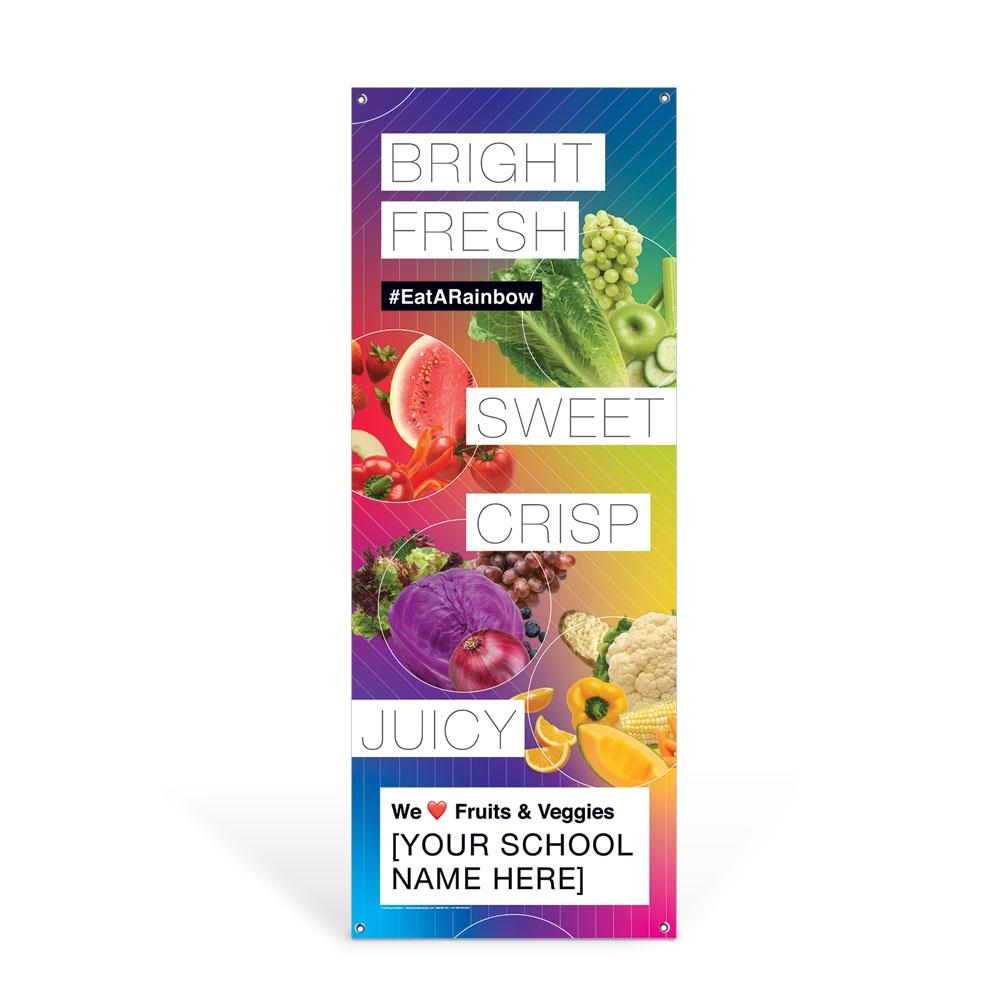 Custom Vinyl Banner: Fresh Fruit and Vegetable Promotional Banner