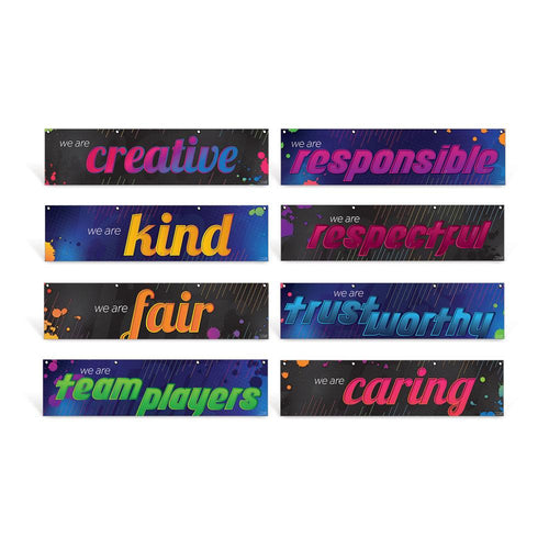 Character Education Hanging Banners Set of 8