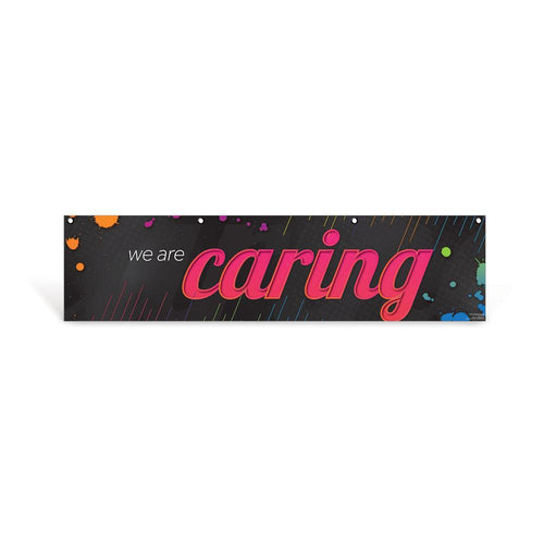 Caring Character Education Hanging Banner