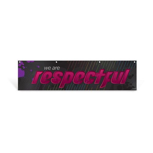 Respectful Character Education Hanging Banner