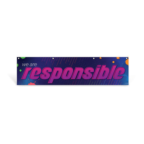 Responsible Character Education Hanging Banner
