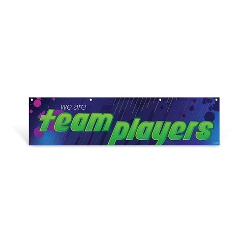 Team Player Character Education Hanging Banner