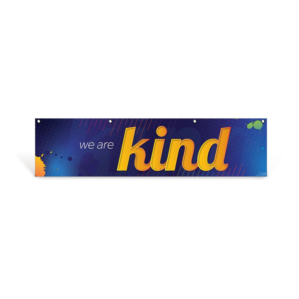 Kind Character Education Hanging Banner