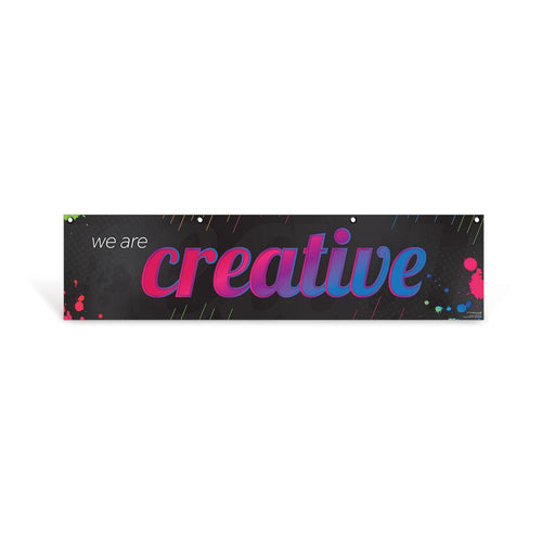 Creative Character Education Hanging Banner
